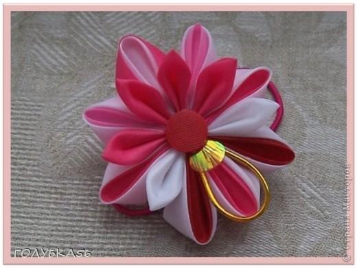 Розовая сказка. Канзаши. фото 3