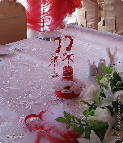 Вот такие бокалы получились у меня для моей сестренки Оксаны и её мужа Дмитрия. фото 3