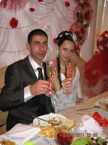Вот такие бокалы получились у меня для моей сестренки Оксаны и её мужа Дмитрия. фото 7