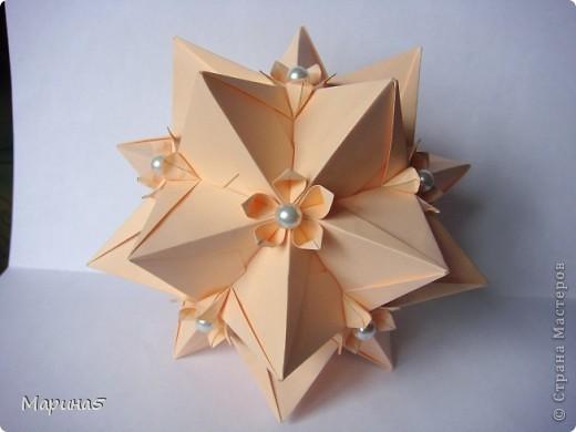 И снова очередные кусудамы с книги Unit Origami Fantasy  Стр.99-100 фото 3