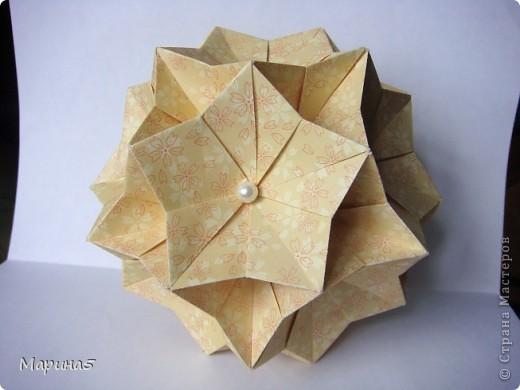 И снова очередные кусудамы с книги Unit Origami Fantasy  Стр.99-100 фото 4