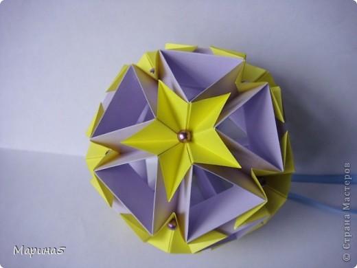 И снова очередные кусудамы с книги Unit Origami Fantasy  Стр.99-100 фото 2