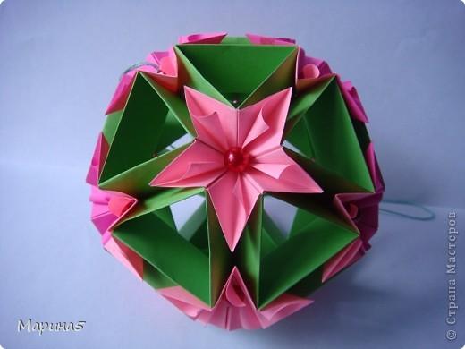 И снова очередные кусудамы с книги Unit Origami Fantasy  Стр.99-100 фото 1