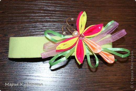 повязка для головы с хризантемой или на какой цветок похоже это творение. фото 2