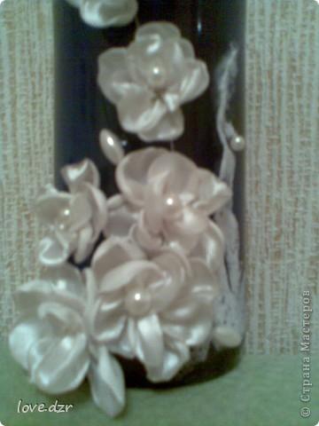 Цветы делала сама из ткани,внутри бусинка. фото 6