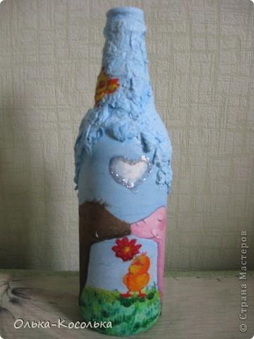 Вот такую смешную бутылку я сотворила для поднятия настроения!!! фото 1