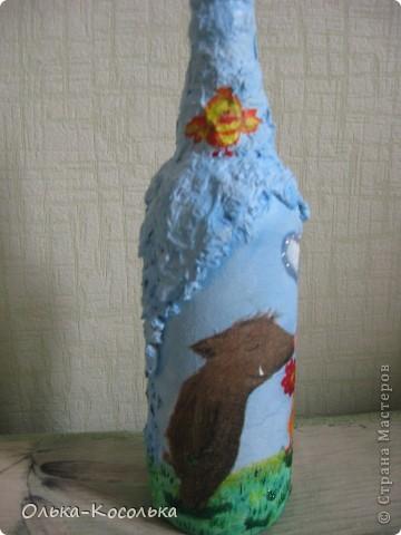 Вот такую смешную бутылку я сотворила для поднятия настроения!!! фото 2