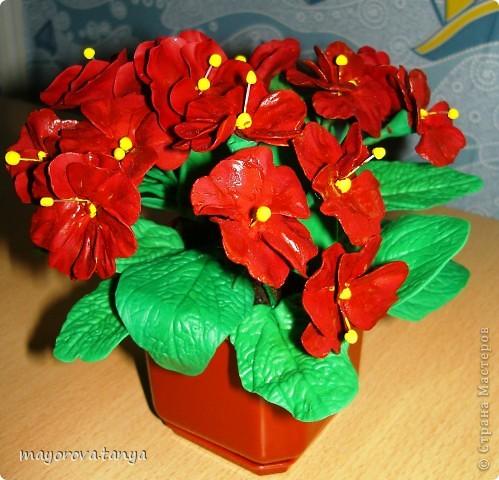 Вот такие непонятные цветы у меня получились.... Задумывались как примула, но что вышло, то вышло)))) Выкинуть вроде жалко... фото 2