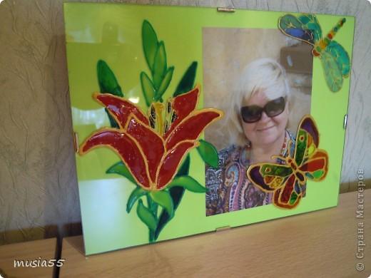 Декорирование фоторамки-роспись по стеклу витражными красками