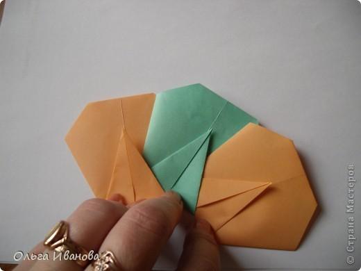 """28, 29 марта в Омске состоялся Фестиваль оригами. Мы с девчонками из кружка тоже приняли участие. Это одна из наших работ """"Бабушкин садик"""".  фото 10"""