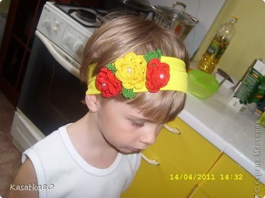 Попросила сынулю попозировать :-) http://malinka86.blogspot.ru/2015/01/blog-post_21.html - Здесь остальные варианты, разной цветовой гаммы, такие же повязочки.