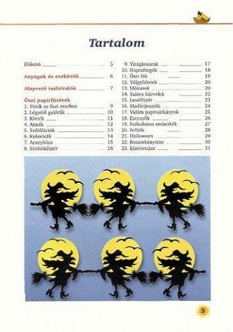 Название: Papirfuzerek  Автор: Andgelika Hahn  Год издания :2002  Изданно в :Budapest   Описание:Вот нарыл книжечку на свалке интеренета,очень интересно, особенно гирлянды к хелловину нравятся.  Много стараницц,и главное будет чем украшать помещения к любому празднику!   кому нужна ссылка для скачивания - обращайтесь в личку!!!   фото 2