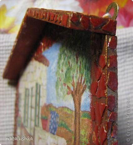 Ключница сделанная сестрой, из остатков салфеток. фото 5