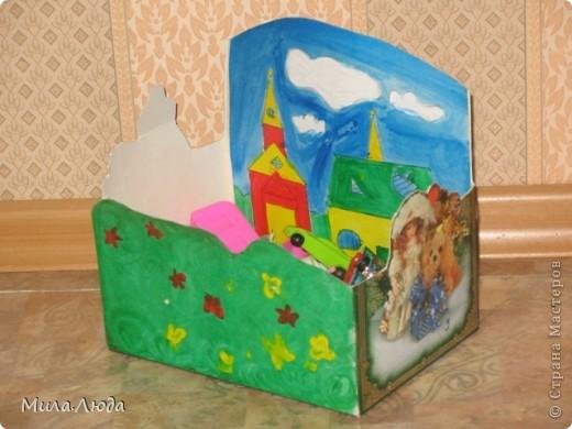 Вот такая симпатичная коробочка для игрушек из киндер-сюрприза и растишки у меня получилась.