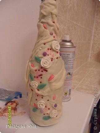 Эту бутылочку делала в придачу к тарелке. фото 7