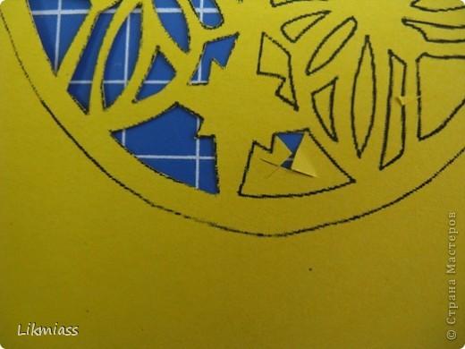 Мы продолжаем вечер наш... начало здесь http://stranamasterov.ru/node/180820?t=blog Эта открытка состоит из 2-х частей чуть по разному украшенных. Пасха ассоциируется у меня с  богатым и торжественным убранством, золотом и серебром, цвета белый, красный, лазоревый. Представляю вам красное на белом с серебром. фото 10