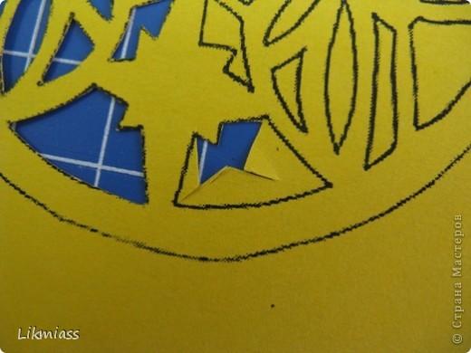 Мы продолжаем вечер наш... начало здесь http://stranamasterov.ru/node/180820?t=blog Эта открытка состоит из 2-х частей чуть по разному украшенных. Пасха ассоциируется у меня с  богатым и торжественным убранством, золотом и серебром, цвета белый, красный, лазоревый. Представляю вам красное на белом с серебром. фото 11