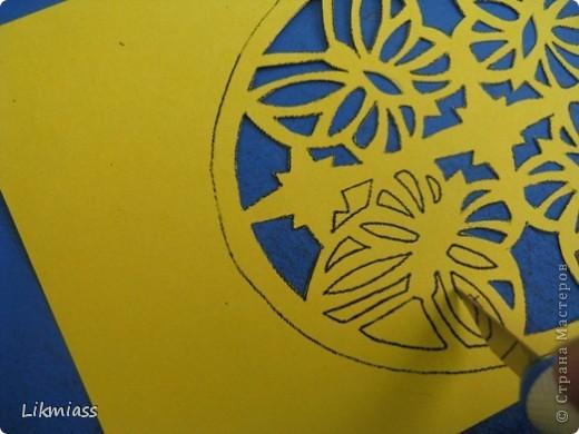 Мы продолжаем вечер наш... начало здесь http://stranamasterov.ru/node/180820?t=blog Эта открытка состоит из 2-х частей чуть по разному украшенных. Пасха ассоциируется у меня с  богатым и торжественным убранством, золотом и серебром, цвета белый, красный, лазоревый. Представляю вам красное на белом с серебром. фото 15