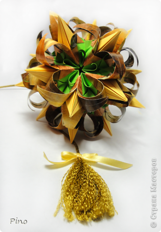 Кусудама Curly-Blossomed, автор Ханина Наталия. Схема здесь http://ru-kusudama.livejournal.com/168979.html?thread=1512467  фото 1