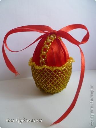 Вот такое пасхальное яйцо. У кого то я видела такое,но вот не помню с мастер-классом или нет,так что примите на обозрение мой первый мастер класс! фото 12