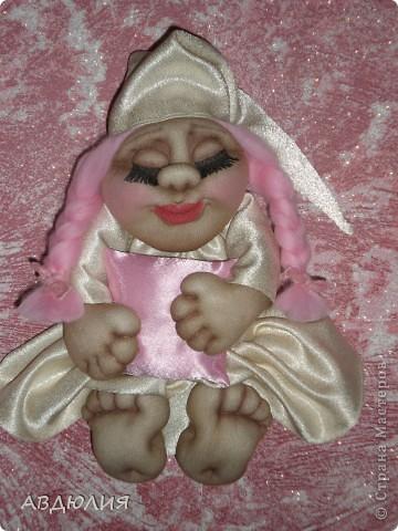 Решила сделать Сплюшу-девочку, чтобы мальчишкам дремать было веселее! Тело по МК Оксаны Третьяковой! фото 2