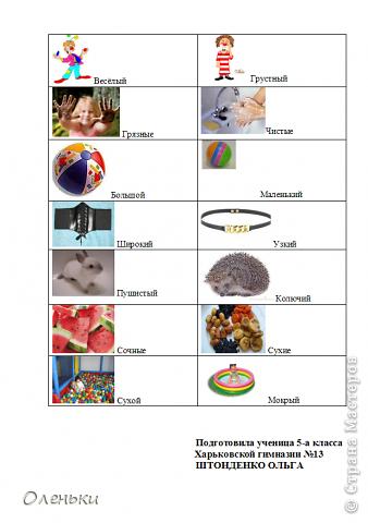 В школе дочери задали задание: сделать таблицы по омонимам, синонимам и антонимам. В интернете долго искали подходящие картинки, оформили.  Решили выставить в СМ - может пригодиться кому. фото 8