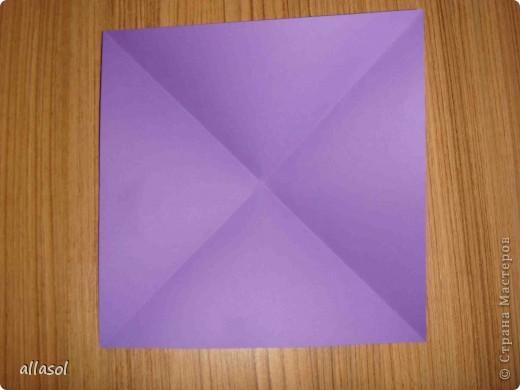 """Идея из книги Афонькиных """"Цветущий сад оригами"""".  Предлагаю сделать цветы тем, кто не боится слов """"сложить по всем намеченным линиям"""".  Делала немного по-другому, чем в книге.   фото 2"""