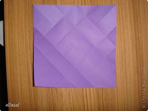 """Идея из книги Афонькиных """"Цветущий сад оригами"""".  Предлагаю сделать цветы тем, кто не боится слов """"сложить по всем намеченным линиям"""".  Делала немного по-другому, чем в книге.   фото 5"""