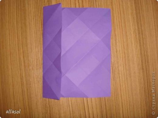 """Идея из книги Афонькиных """"Цветущий сад оригами"""".  Предлагаю сделать цветы тем, кто не боится слов """"сложить по всем намеченным линиям"""".  Делала немного по-другому, чем в книге.   фото 6"""