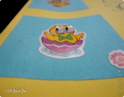 Показала дочурке новый скетч и она загорелась сделать новую открытку. Вот такая открытка С Пасхой у нее получилась... фото 2