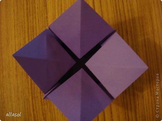 """Идея из книги Афонькиных """"Цветущий сад оригами"""".  Предлагаю сделать цветы тем, кто не боится слов """"сложить по всем намеченным линиям"""".  Делала немного по-другому, чем в книге.   фото 12"""