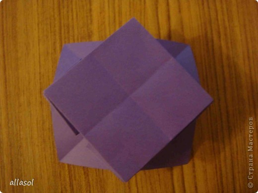 """Идея из книги Афонькиных """"Цветущий сад оригами"""".  Предлагаю сделать цветы тем, кто не боится слов """"сложить по всем намеченным линиям"""".  Делала немного по-другому, чем в книге.   фото 13"""