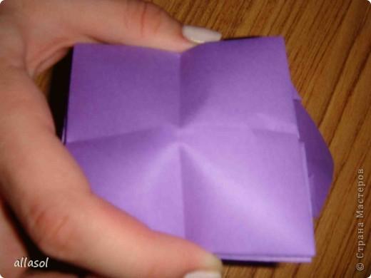 """Идея из книги Афонькиных """"Цветущий сад оригами"""".  Предлагаю сделать цветы тем, кто не боится слов """"сложить по всем намеченным линиям"""".  Делала немного по-другому, чем в книге.   фото 18"""
