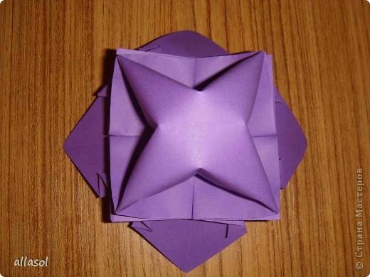 """Идея из книги Афонькиных """"Цветущий сад оригами"""".  Предлагаю сделать цветы тем, кто не боится слов """"сложить по всем намеченным линиям"""".  Делала немного по-другому, чем в книге.   фото 19"""