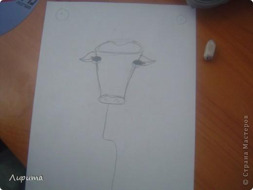"""Буффало- это """"Техасские буйволы"""". Также это является символом Техаса.  Сестру в школе научили, как нарисовать такого барана, а я спешу поделится с вами: будет мой первый МК.  фото 4"""