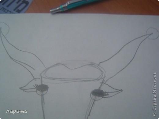 """Буффало- это """"Техасские буйволы"""". Также это является символом Техаса.  Сестру в школе научили, как нарисовать такого барана, а я спешу поделится с вами: будет мой первый МК.  фото 6"""