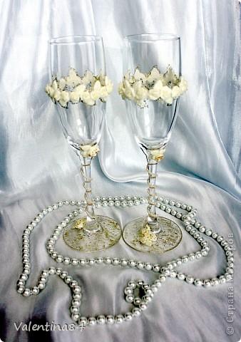 Свадебные фужеры и бутылочки фото 1