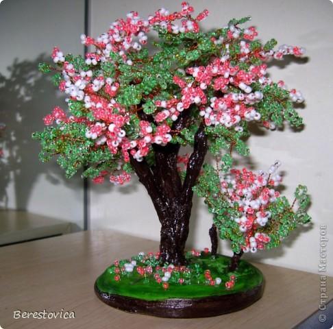 Интерьер Бисероплетение Весенние деревья Бисер фото 2.