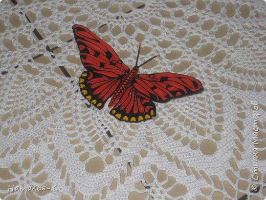 Моя вторая бабочка в технике квиллинг. Ещё ничего не приклеено, просто наброски.  Захотелось скорее похвастать, думаю многим  знакомо это чувство. фото 4