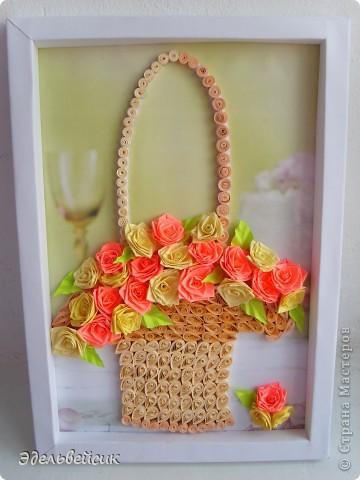 Открытки, открытка своими руками корзина с цветами из
