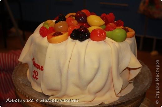 Мой второй тортик с мастикой.  На день рождения дочери. фото 4