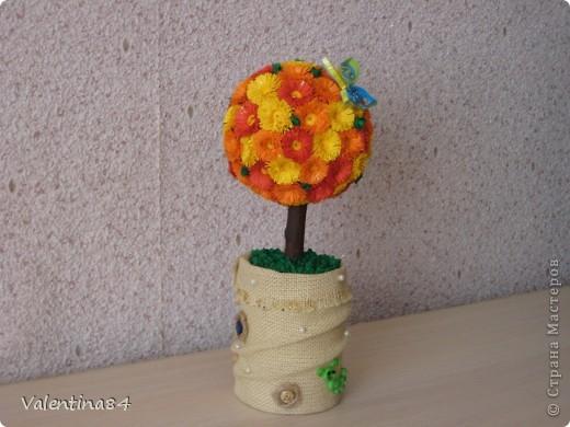 Самое первое деревце,опять же вдохновилась работами Мастериц,Спасибо за идеи! фото 3
