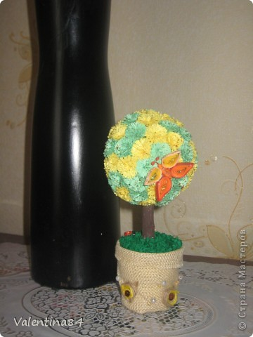 Самое первое деревце,опять же вдохновилась работами Мастериц,Спасибо за идеи! фото 4