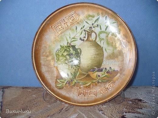 Греческо-оливковая тарелка