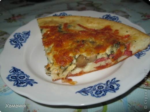 """Сегодня у нас на ужин - пицца по-русски. Еще она в нашей семье проходит под кодовым названием """"доедаем все куски"""". фото 7"""