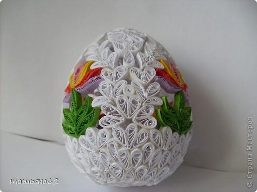 Сделав крышечку для яйца-шкатулки, захотелось сделать целое яичко. Вот что у меня вышло. фото 5