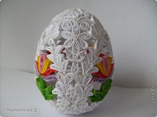 Сделав крышечку для яйца-шкатулки, захотелось сделать целое яичко. Вот что у меня вышло. фото 4
