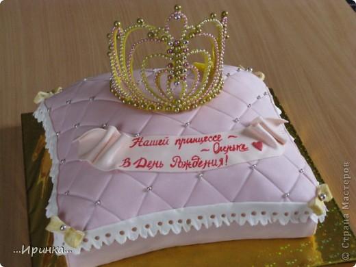 """торт """"Корона на подушечке"""""""