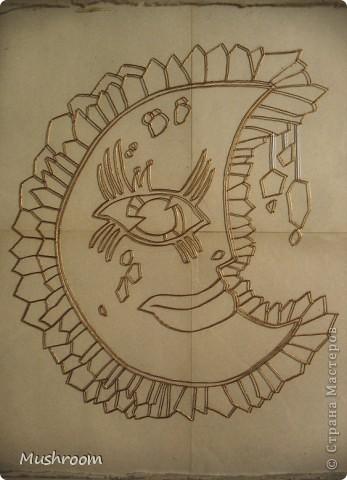 Солнце и Луна (акрил, витраж) фото 2