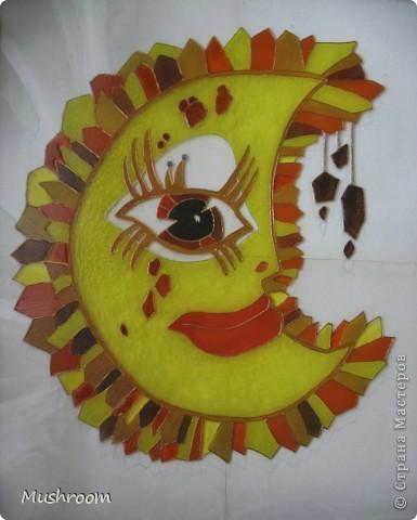 Солнце и Луна (акрил, витраж) фото 1